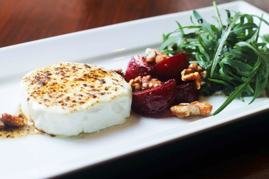 Red Snapper Restaurant & Bar: Grilled Goat's Cheese one of our Vegetarian Specialities