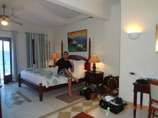 Petinos Beach Hotel: deluxe room with ocean view