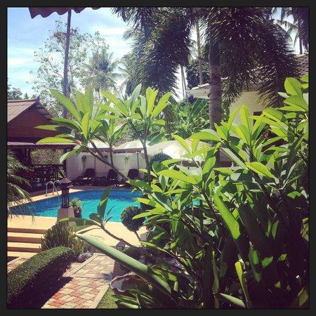 Baan Sukreep - Zen Garden Cottages: la vue quand je me lève le matin