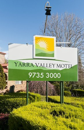Yarra Valley Motel: The Sign as you drive in