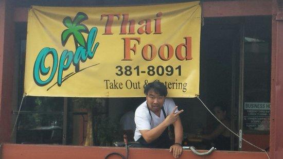 Opal at the Opal Thai restaurant, North. Shore Hawaii May 2014.