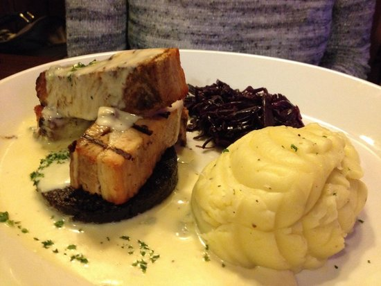 Fiddler's: Whoops, this the Pork Belly, other dish was my very decent venison haunch!