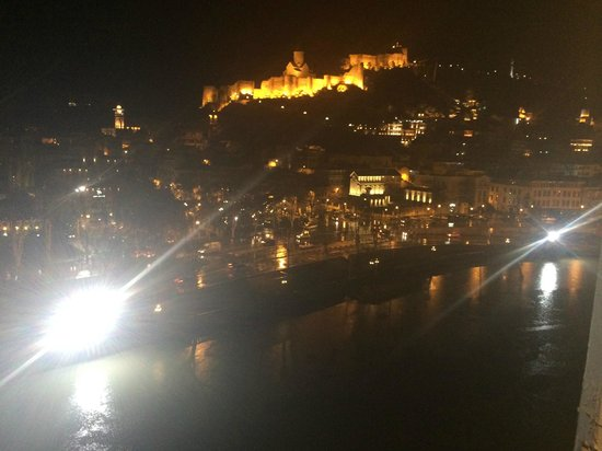 Hotel Old Metekhi : view from our terrace to the NIGHT  old Tbilisi
