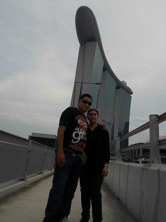 Marina Bay Sands in Background