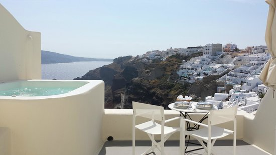 Canaves Oia Hotel: Balcony view