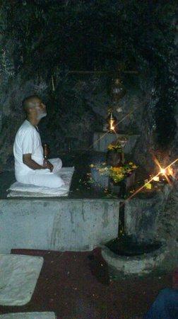 Vashishta Gufa: Inside of cave.