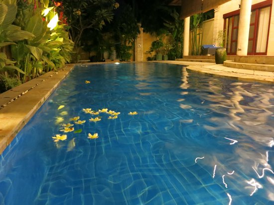 Bali Diamond Villas : Villa pool at night