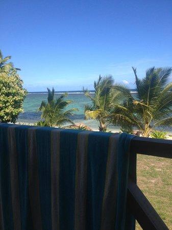 Namuka Bay Lagoon Resort: view from balcony