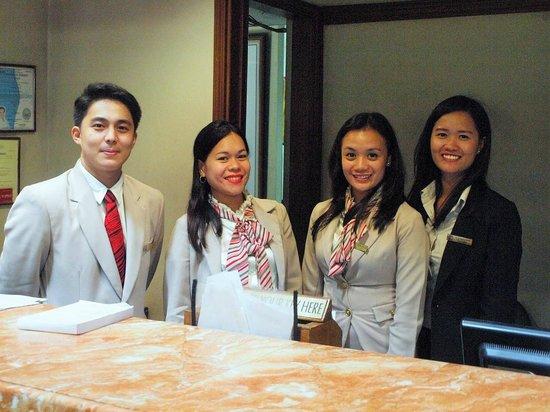 L'Fisher Hotel: Hotel Front Desk Staff