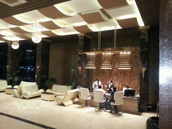 Reception area at Treat Resort