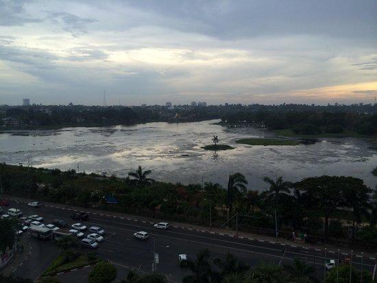 Sedona Hotel Yangon: View of the lake from my window