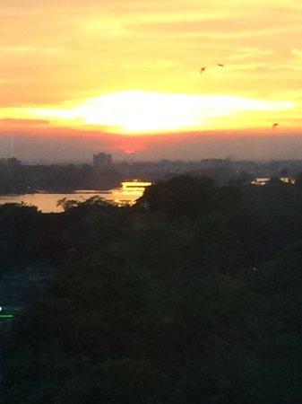Sedona Hotel Yangon, Myanmar : View of the sunset from my window