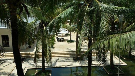 Lotus Blanc Resort: View to Pool / Garden