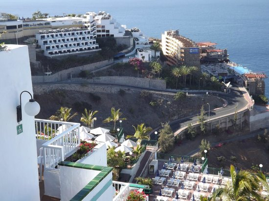 Hotel Altamar: view from looking down to the puerto azul