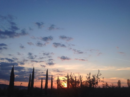 Garden Resort & Spa San Crispino: Tramonto rosso