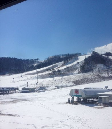 Holiday Inn Resort Alpensia Pyeongchang: View from the room, overlooking ski lift.