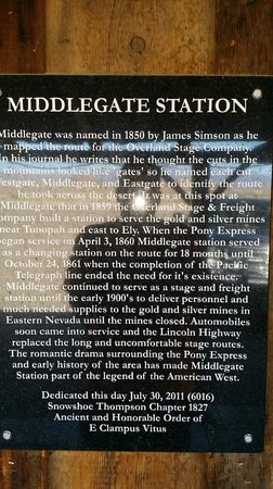 Middlegate Station: history