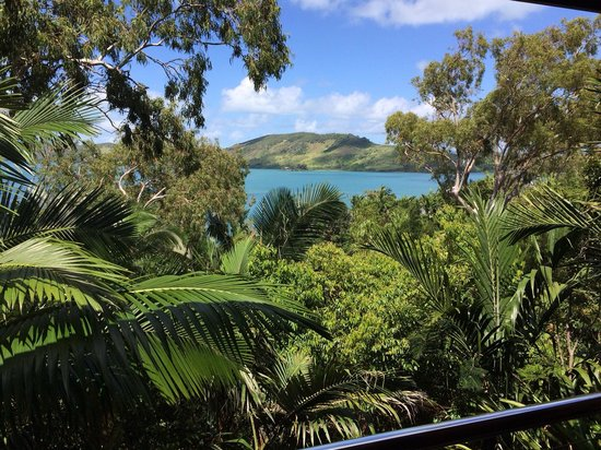 Qualia Resort: View from our leeward pavilion