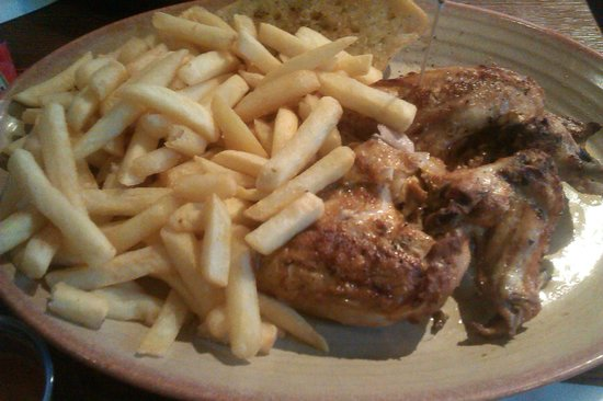 Nando's: chicken and chips