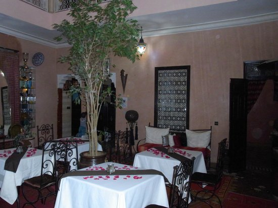 Riad Bahia : Innenhof, Frühstück und Abendessen