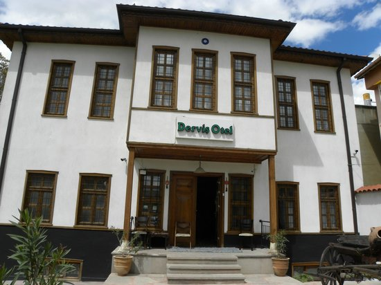 Konya Dervish Otel: Two windows on the second floor to the left side of the photo