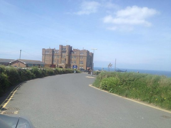 Camelot Castle Hotel: view from the road