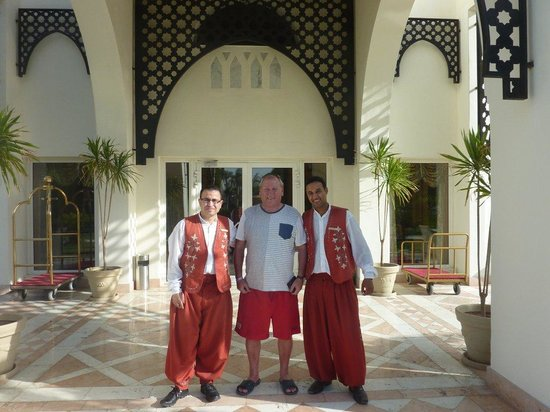 Le Royale Sharm El Sheikh, a Sonesta Collection Luxury Resort: MY LOVLEY HUSBAND & THE PORTERS.