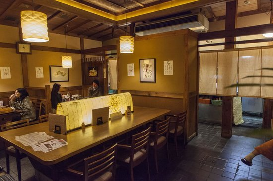 Nishiya Honten: Interior of the restaurant.