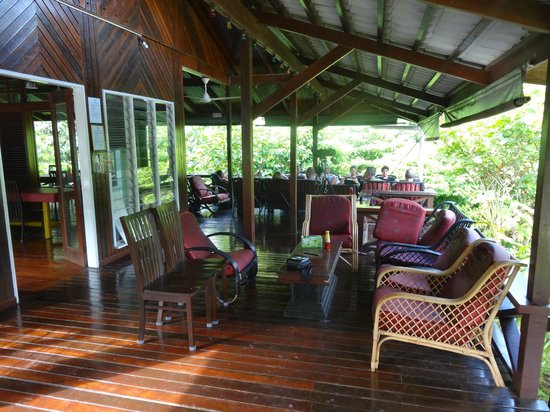 Danum Valley Field Center: Outdoors seating area in the dining building