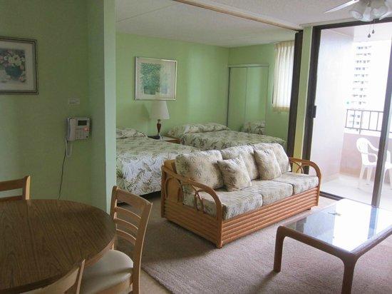 Royal Kuhio Resort : 居心地良い部屋