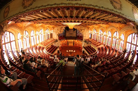 Palau de la Música Orfeó Català: Fish-eye view