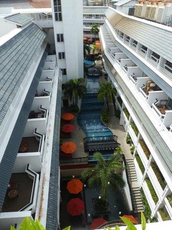 DusitD2 Phuket Resort : Pool view from 4th floor