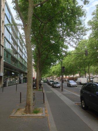 De Paris: in front of the hotel