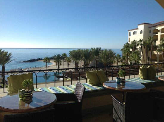 Hilton Los Cabos Beach & Golf Resort: View from breakfast (try the green juice)
