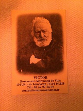 Restaurant Victor : Card