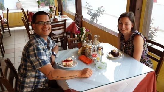 Kelariko Restaurant : and this is us. Daniel & Mandy. taken by Spiros