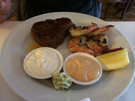 Steakpoint City: Steak and scampi entree