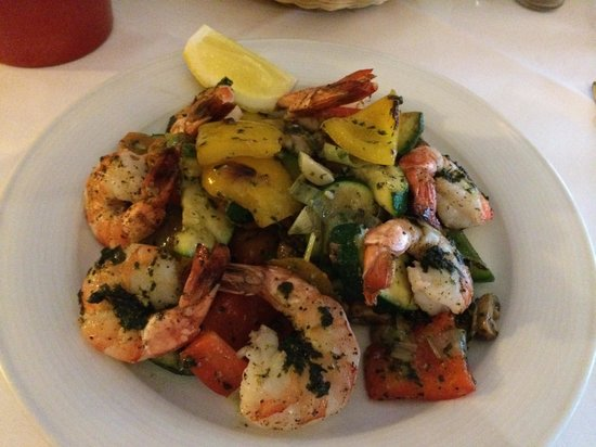 Steakpoint City: Scampi with grilled vegetables
