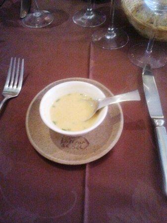 La fleur de sel : apéritir velouté de cépes