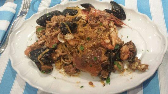 La Piazzetta : Peccato per i mille pezzetti di guscio d' astice