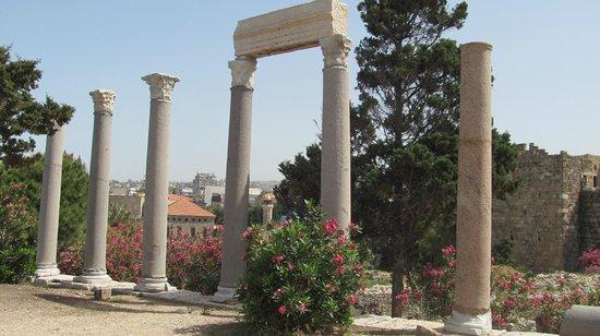Château de Byblos : Римские колонны