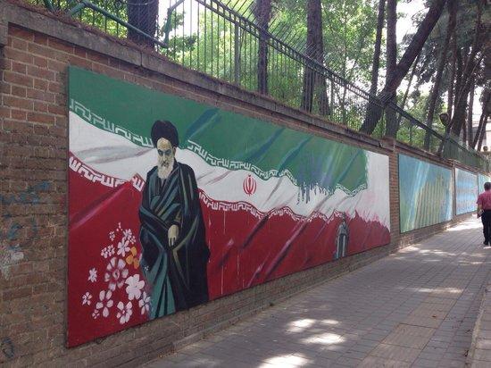 US Den of Espionage: Murals at the 'Den of Espionage'