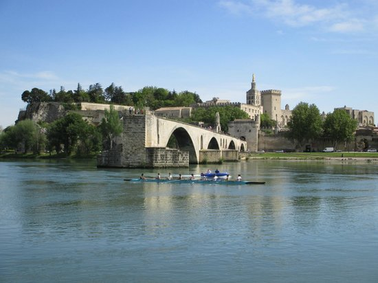Ile de la Barthelasse: Great views of Avignon