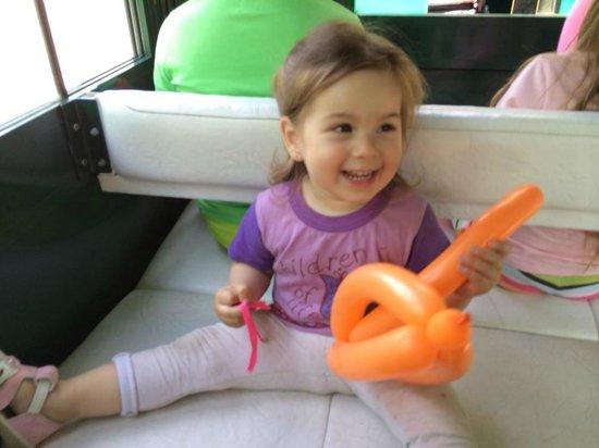 Mtatsminda Amusement Park: в поезде