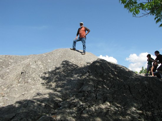 The Blowing Rock offers a little fun with climbing on the rocks.
