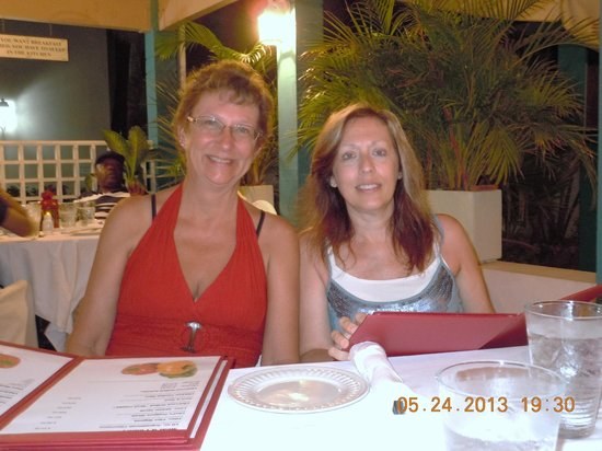 Sweet Peppers Restaurant & Bar Aruba : The two Moms having dinner at Sweet Peppers.
