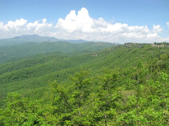 The Blowing Rock: A little hazy the day we were here but still great views.