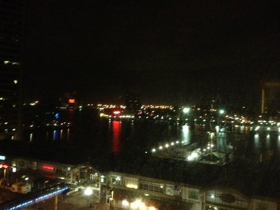 Renaissance Baltimore Harborplace Hotel: nice night view from room