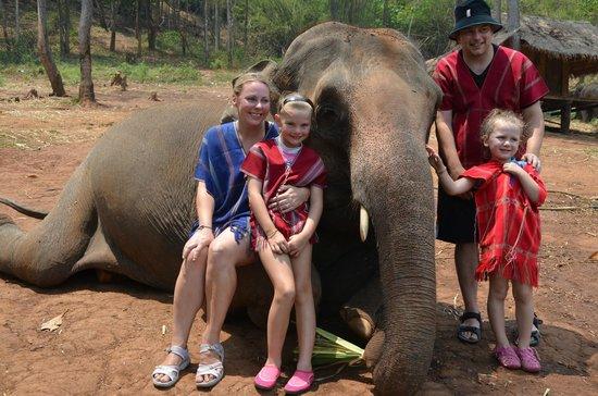 Patara Elephant Farm - Private Tours : Family portrait