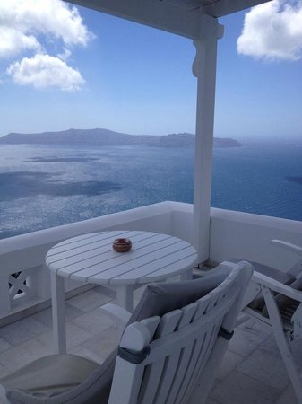 Santorini Princess: View from the Balcony of the Caldera